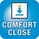 Miele Geschirrspüler mit ComfortClose  Praktisch: Die Tür lässt sich besonders leicht öffnen und schließen und bleibt in der gewünschten Position stehen.