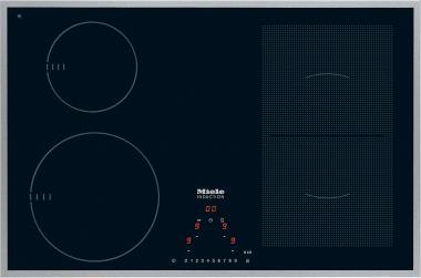 Miele KM6307, autarkes Induktionskochfeld mit umlaufendem Edelstahlrahmen und PowerFlex-Kochbereich für maximale Flexibilität und Leistungsstärke.