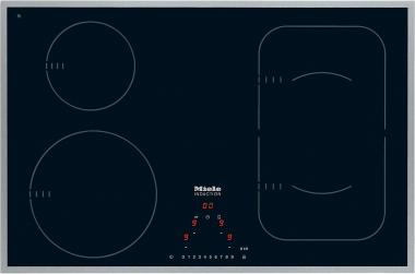 Miele KM6347, autarkes Induktionskochfeld mit flachem Rahmen und PowerFlex-Kochbereich für maximale Flexibilität und Leistungsstärke.