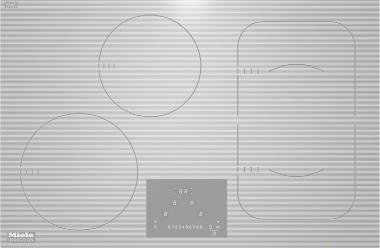 Miele KM6349, autarkes Induktionskochfeld für den flächenbündigen Einbau mit 2 PowerFlex-Zonen und TwinBooster für maximale Flexibilität und Leistungsstärke.