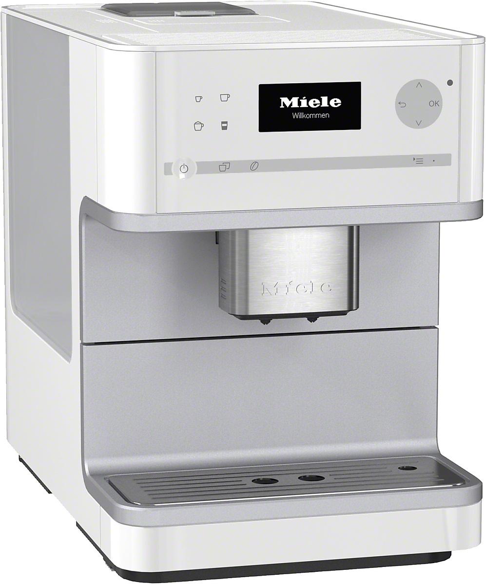 Miele kaffeevollautomat cm 6100 lotosweiss vs elektro for Miele vollautomat