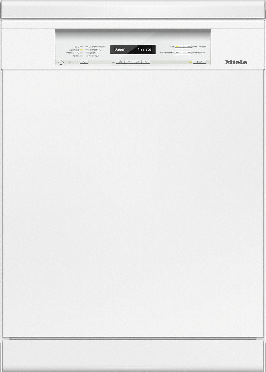Miele g 6820 sc stand geschirrspuler brillantweiss vs elektro for Miele geschirrspüler