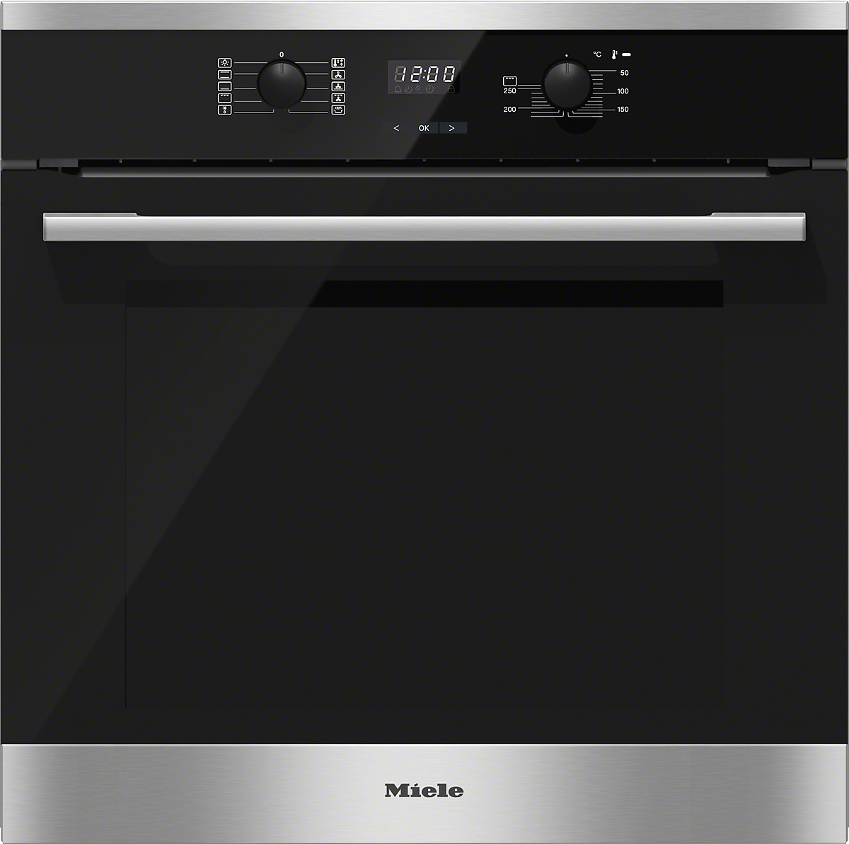 miele einbau backofen h2561 b edelstahl cleansteel vs elektro. Black Bedroom Furniture Sets. Home Design Ideas