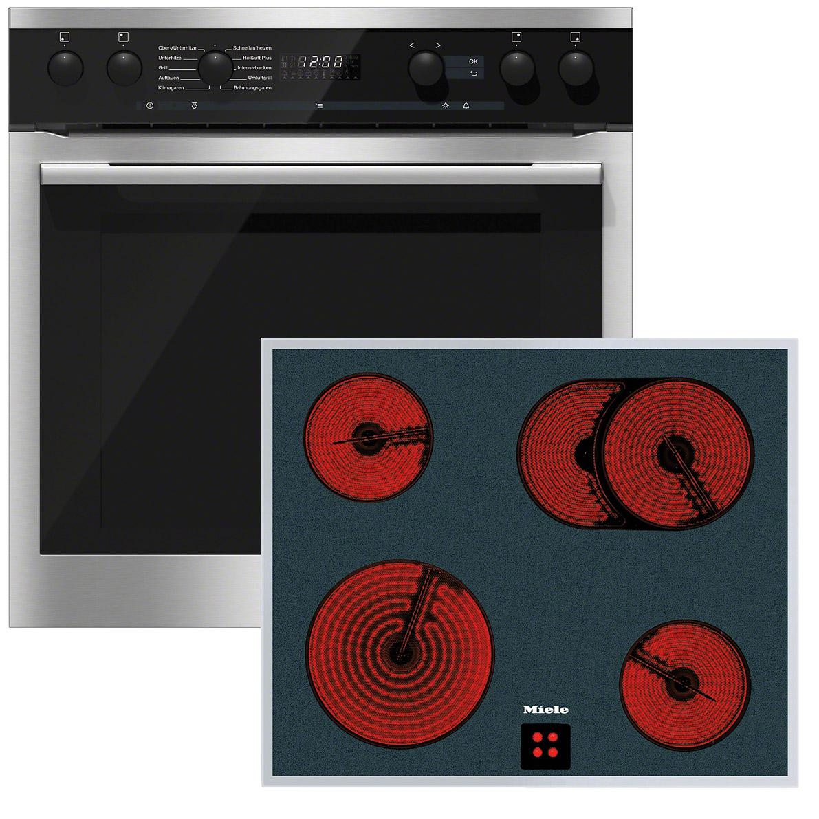 miele herdset h6160 e edelstahl km6024 lpt vs elektro. Black Bedroom Furniture Sets. Home Design Ideas