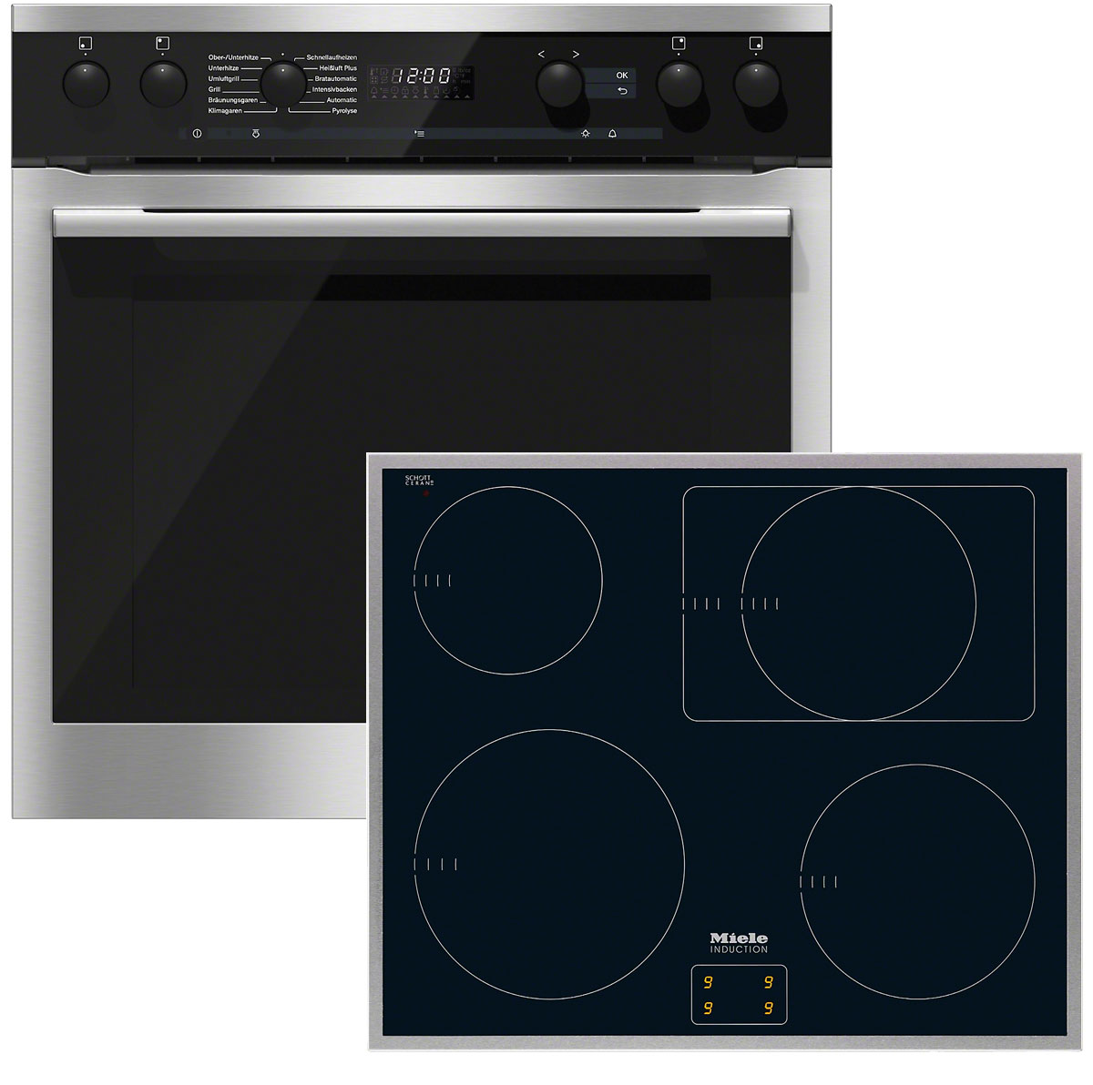 miele herdset h6167 ep edelstahl km6090 vs elektro. Black Bedroom Furniture Sets. Home Design Ideas