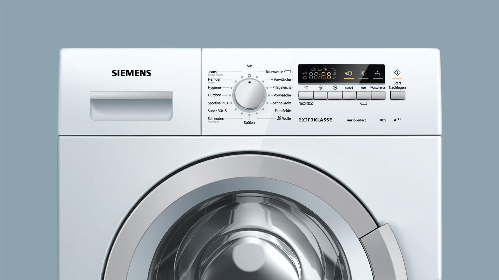 Siemens extraklasse waschmaschine wm k a vs elektro