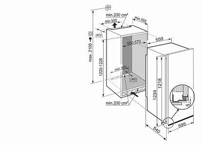 liebherr einbauk hlschrank ek 2314 comfort vs elektro. Black Bedroom Furniture Sets. Home Design Ideas