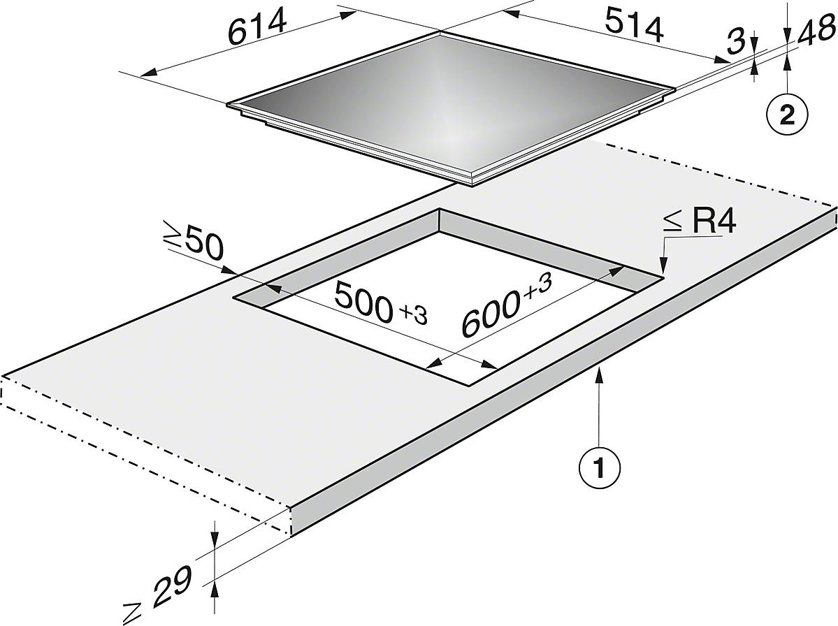 miele kochfeld km 6090 lpt vs elektro. Black Bedroom Furniture Sets. Home Design Ideas