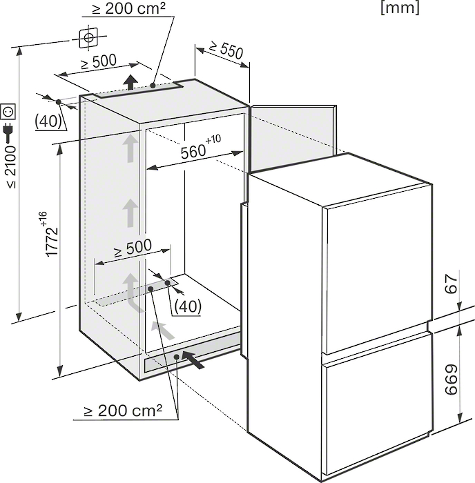 miele kdn 37132 id vs elektro. Black Bedroom Furniture Sets. Home Design Ideas