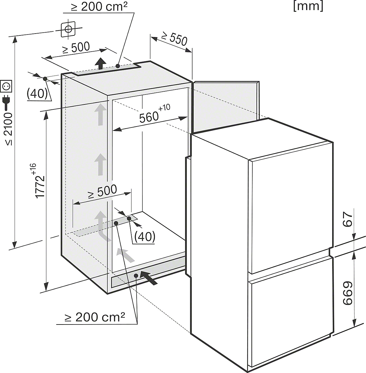 miele k hl gefrier kombination kf 37132 id vs elektro. Black Bedroom Furniture Sets. Home Design Ideas